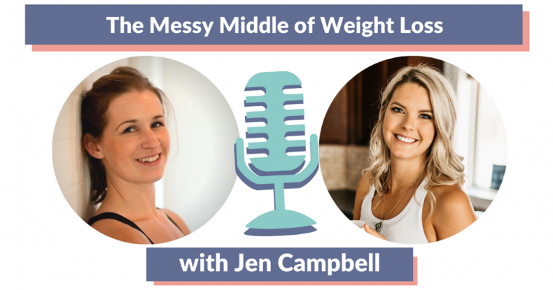 Ep 8 The Messy Middle of Weight Loss with Jen Campbell of Balance 365 - Thumbnail with Jen and Marianne